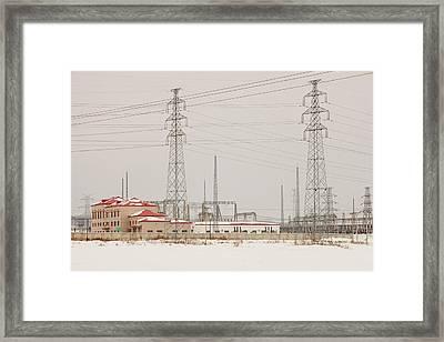 Electricity Pylons Framed Print