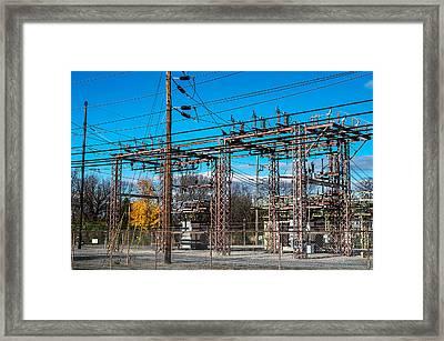 Electricity Station Framed Print
