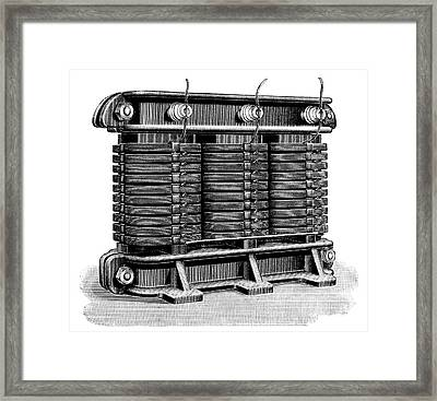 Electricity Transformer Framed Print by Science Photo Library