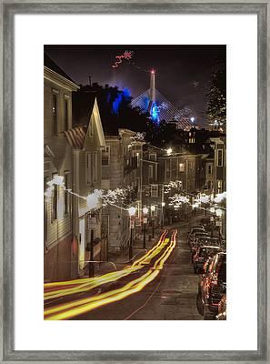 Electrified Boston Framed Print by Joann Vitali