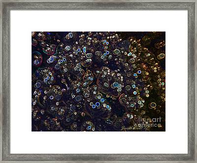 Electrified Neon Bubbles Framed Print