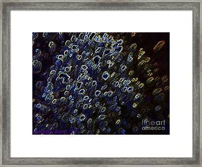 Electrified Neon Reef Framed Print