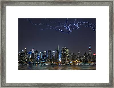 Electrifying New York City Framed Print by Susan Candelario
