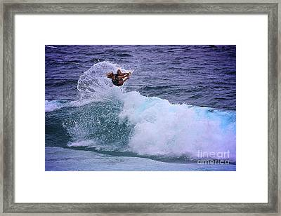 Electrifying Surfer Framed Print by Heng Tan