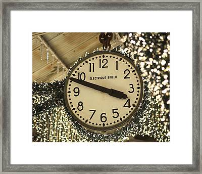 Electrique Brillie Clock In Chelsea Market Framed Print by Rona Black