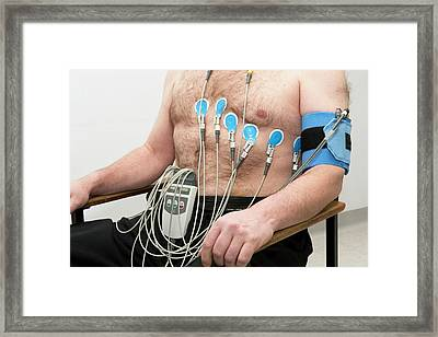 Electrocardiograph (ecg) Framed Print by Dr P. Marazzi
