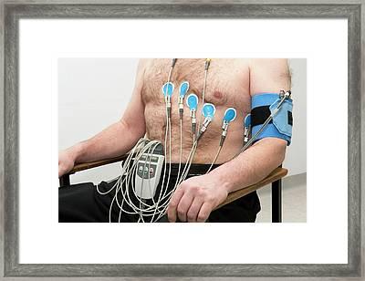 Electrocardiograph (ecg) Framed Print