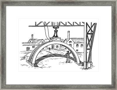 Electromagnet Crane Framed Print by Science Photo Library