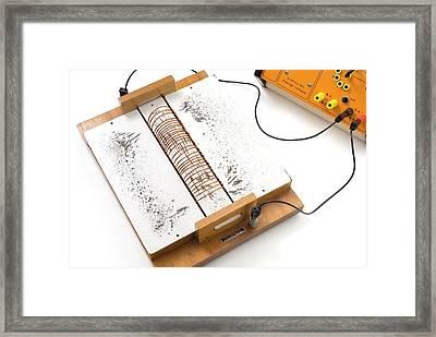 Electromagnetic Field Demonstration Framed Print