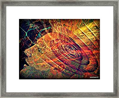 Electromagnetic Waves Framed Print by Paulo Zerbato