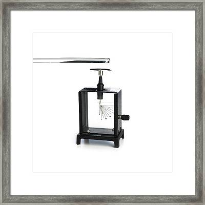 Electrometer Framed Print by Science Photo Library