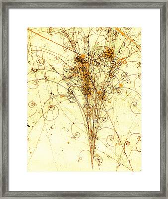 Electron Positron Particle Shower Framed Print