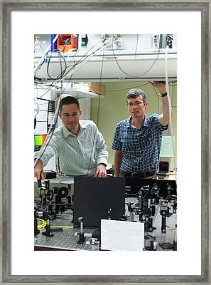 Electron Spin Observations Framed Print by Ibm Research