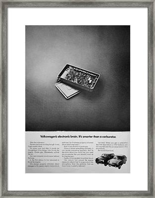 Electronic Brain Framed Print