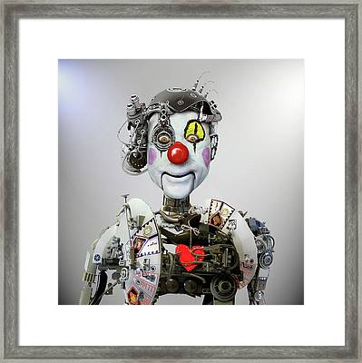 Electronic Clown Framed Print