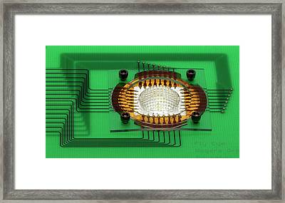 Electronic Compound Eye Camera Framed Print by Professor John Rogers, University Of Illinois