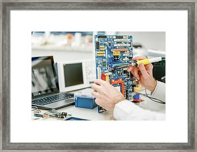 Electronic Equipment Framed Print