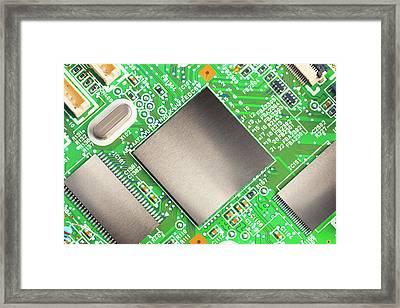 Electronic Printed Circuit Board Framed Print by Wladimir Bulgar