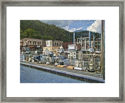 Electronic Shop Window Framed Print