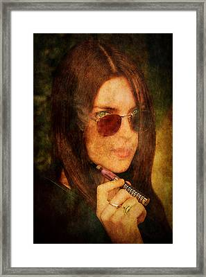 Electronic Smoking Framed Print by Loriental Photography
