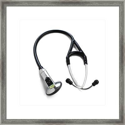 Electronic Stethoscope Framed Print
