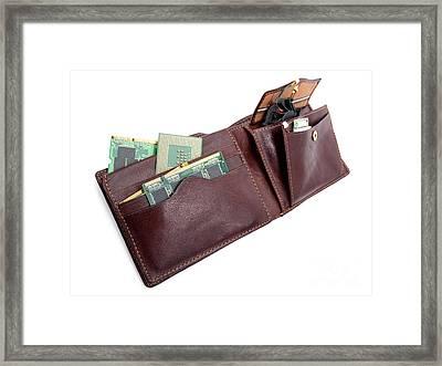Electronic Wallet Framed Print by Sinisa Botas
