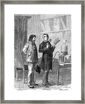 Electroplating, 19th Century Framed Print by Spl