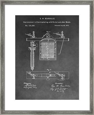 Electroplating Framed Print by Dan Sproul