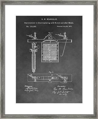 Electroplating Framed Print