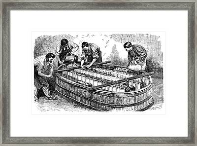 Electroplating Industry Framed Print by Science Photo Library