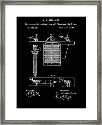 Electroplating With Nickel Framed Print by Dan Sproul