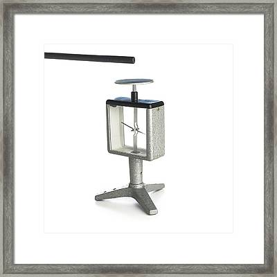 Electroscope Framed Print by Science Photo Library