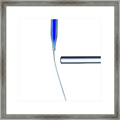 Electrostatic Attraction Framed Print by Science Photo Library