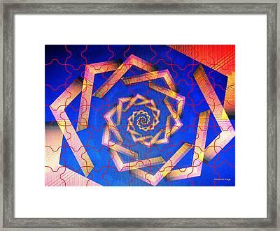 Electrostatic Staircase Framed Print