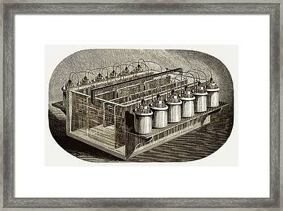 Electrotyping Tank For Woodblocks Framed Print by Sheila Terry