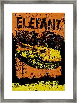Elefant Tank Framed Print by Philip Arena