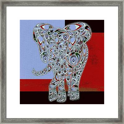 Elefantos - 01ac9at01 Framed Print by Variance Collections