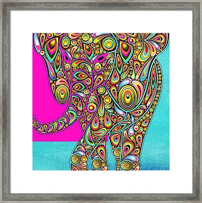 Elefantos - Bg01ac02 Framed Print by Variance Collections