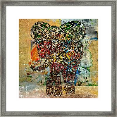 Elefantos - Co01at03 Framed Print by Variance Collections