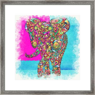 Elefantos - Ptw01a Framed Print by Variance Collections