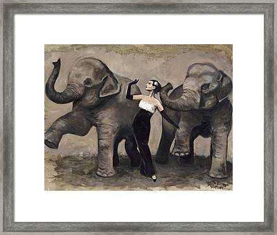 Elegance And Elephants Framed Print by Billie Colson