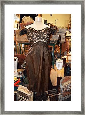 Elegance In Brown Framed Print by Cindy Nunn