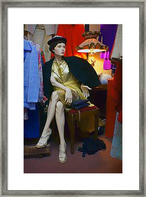 Elegance - Retro Mannequin Framed Print by Nikolyn McDonald