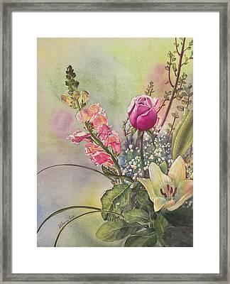 Elegance Framed Print by Victoria Lisi