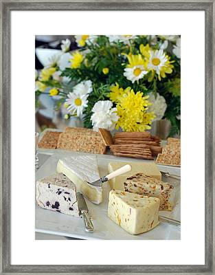 Elegant Cheese Buffet Framed Print