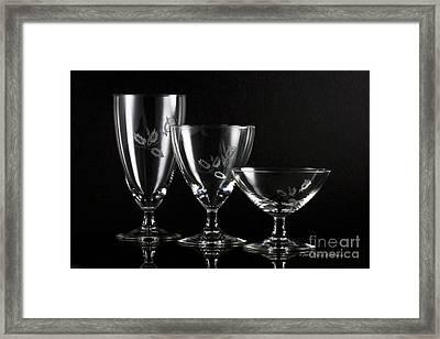 Elegant Crystals Framed Print