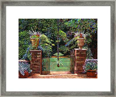 Elegant English Garden Framed Print by David Lloyd Glover