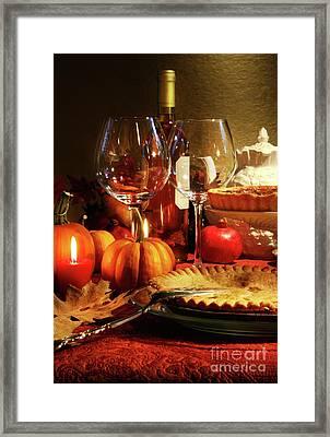 Elegant Festive Table Framed Print by Sandra Cunningham