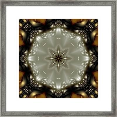Elegant Fractal Kaleidoscope  Framed Print