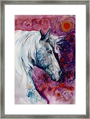 Elegant Horse Framed Print by Mary Armstrong